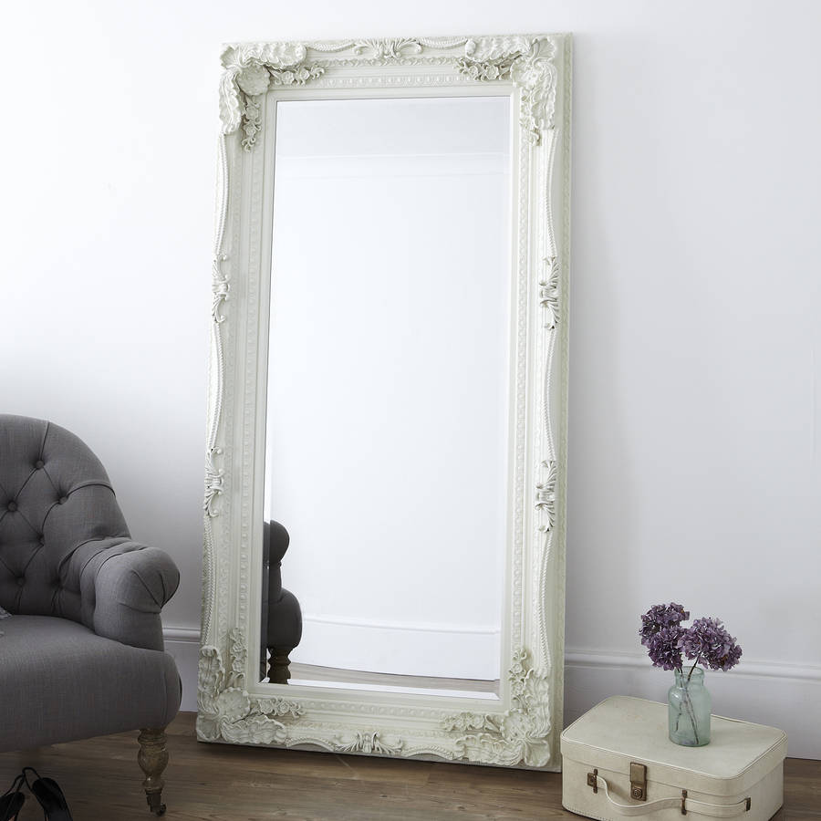 Carved Floor Standing Mirror By Primrose Amp Plum
