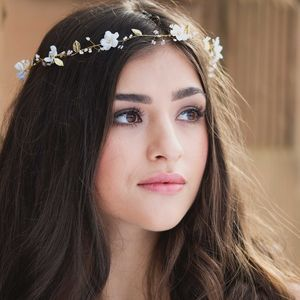 Jasmine Bridal Halo Or Hairvine - bridal hairpieces