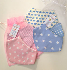 Baby Gift Set Of Bibs Pink Or Blue - baby & child sale