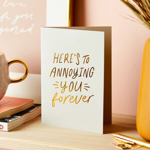 Relatable Anniversary Foil Embossed Card