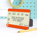 Personalised 'Thank You Teacher' Wooden Train Ticket