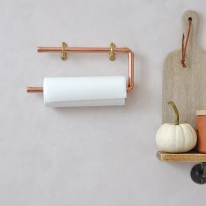 Copper Kitchen Towel Rail - kitchen roll holders