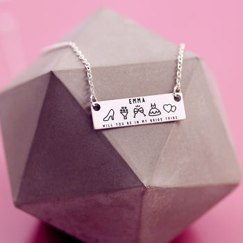 Bride Tribe Personalised Bridemaids Necklace Gifts