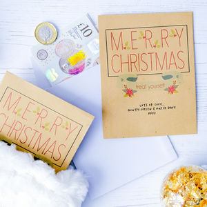 10 'Treat Yourself' Christmas Money Envelopes
