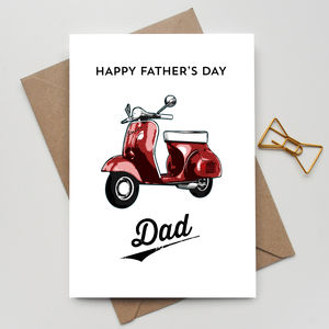 Personalised Fathers Day Scooter Card