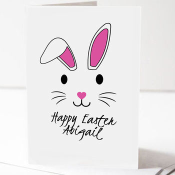 Personalised Easter Rabbit Card