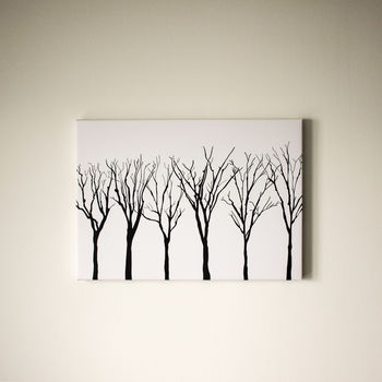 Trees In Starlight Canvas