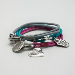 Personalised Leather Print Bracelet - mother's day gifts