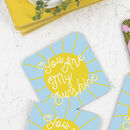You Are My Sunshine Drinks Coaster