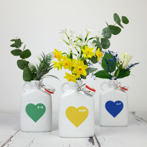 Heart Flask Vase With Personalisation - personalised mother's day gifts