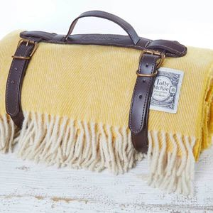 Lemon Curd Luxury Picnic Rug - outdoor living