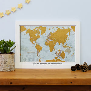 Personalised Scratch The World® Travel Edition Map - personalised