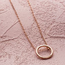 Personalised Medium Hoop Necklace in rose gold plate