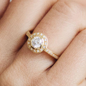 Efflorescence Ethical Fairtrade Diamond Engagement Ring - gold