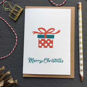 Christmas Present Christmas Card Pack - cards & wrap