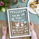 Personalised Stork Birth Papercut