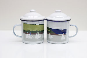 Enamel Mug With Sailing Boats