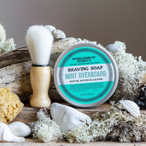 Mint Shaving Soap With Brush - bath & body