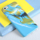 Pale Blue And Gold Paint Design Phone Case
