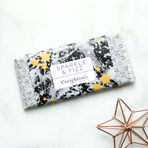 Sparkle And Fizz Champagne Flavoured Chocolate Bar - novelty chocolates