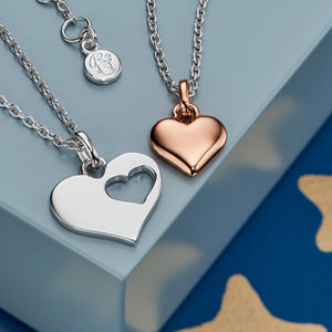 My Heart Sterling Silver Mummy And Me Necklace Set - jewellery sets