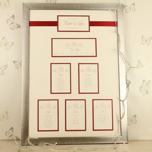 Noelle Framed Wedding Table Plan - table plans