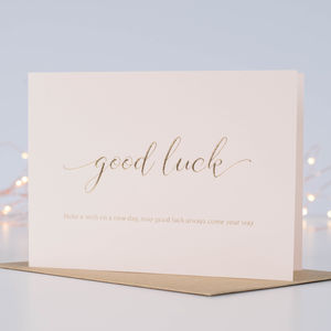 Make A Wish For 'Good Luck' Card