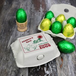 Personalised Egg Box With Chocolate Eggs - best easter food & drink
