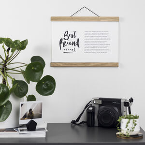 Best Friend Poem Print