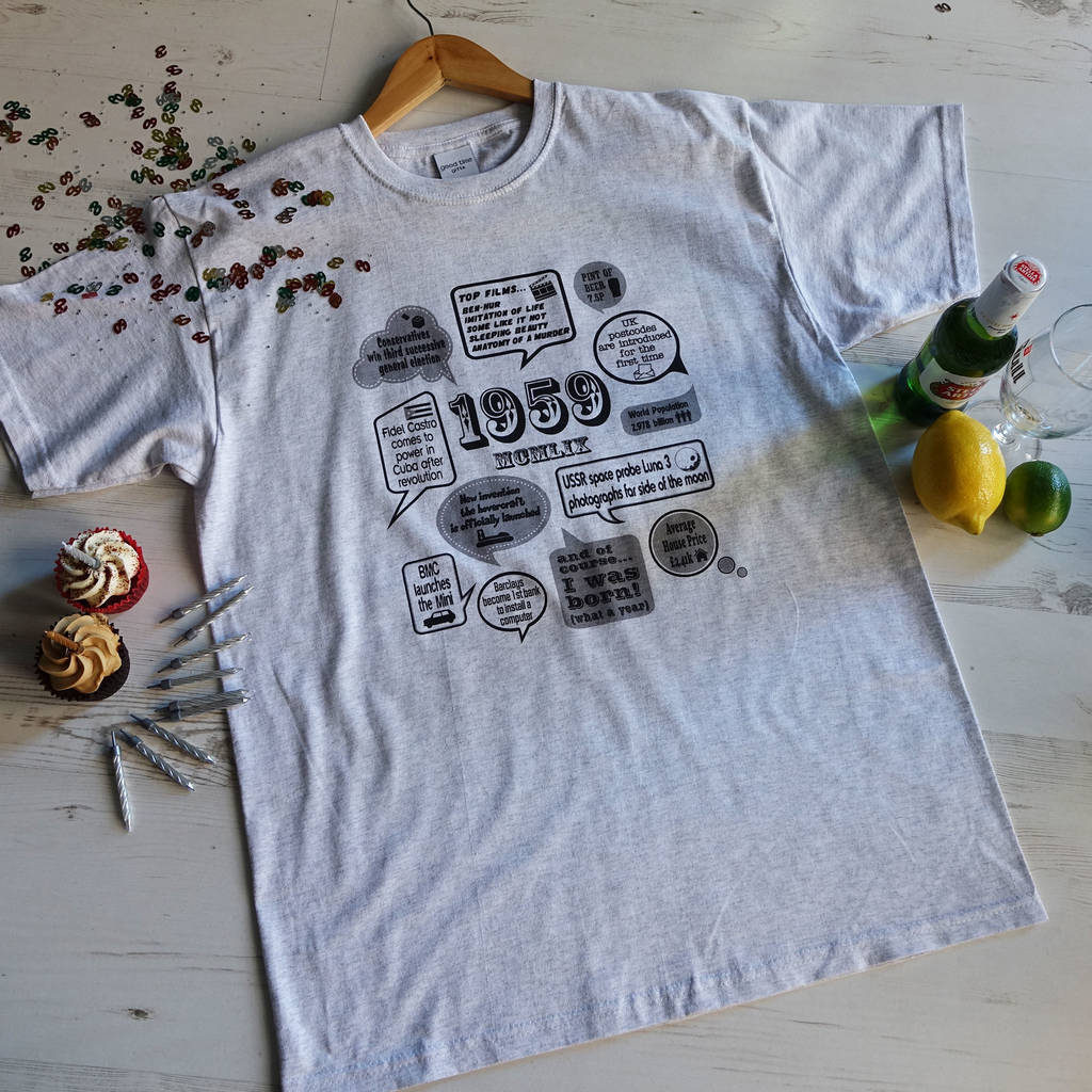 Events Of 1959 60th Birthday Gift T Shirt