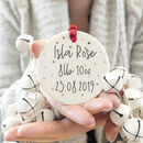 New Baby Personalised Metallic Detail Keepsake