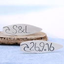 Personalised Silver Surfer Cufflinks