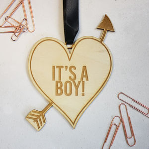 'It's A Boy' Wooden Keepsake