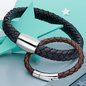 Daddy And Me Leather Bracelet Set - bracelets