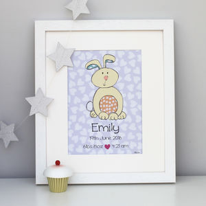 Bunny Personalised Children's Print