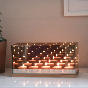 Reflection Candle Holder Gold, Cinq - room decorations