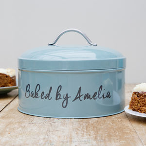 Personalised Teal Cake Tin