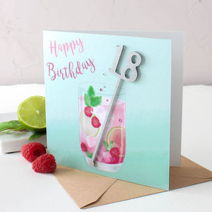 Birthday Cocktail Card - 21st birthday cards