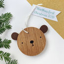 Personalised Wooden Bear To Hang