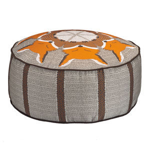 Night Fox Patterned Pouffe Beanbag - floor cushions & beanbags