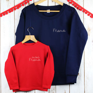 Mama And Mini Mama Twinning Ladies Sweatshirt Set