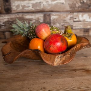 Hand Carved Wooden Bowl - fruit bowls