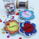 Personalised Flower Keyring