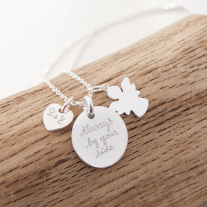 Personalised Guardian Angel Charm Chain Necklace - necklaces & pendants