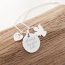 Personalised Guardian Angel Charm Chain Necklace