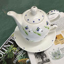 Bluebell Bone China Teapot For One
