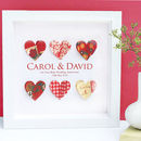 Personalised Ruby Anniversary Paper Hearts Framed Art