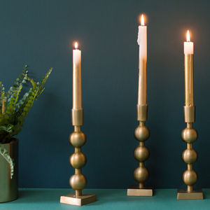 Luca Brass Candle Holder - home accessories