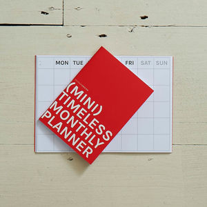 Mini Timeless Monthly Planner - planning & organising