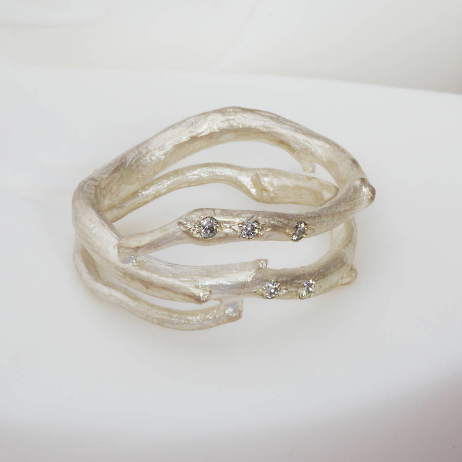 silver and wrap around ring by anthony blakeney